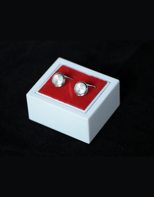 Butoni Camasa Argintii Eleganti 100 Lei