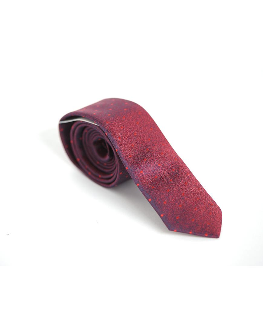 Cravata Barbati Bordo Microfibra Eleganta Casual Slim 80 Lei
