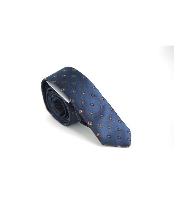 Cravata Barbati Bleumarin Texturata Microfibra Eleganta Casual Slim 80 Lei