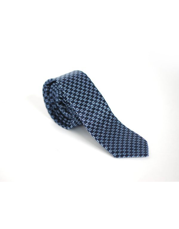 Cravata Barbati Bleu In Carouri Microfibra Eleganta Business Lata 80 Lei