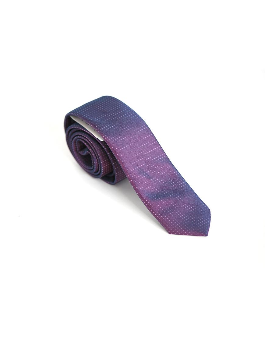 Cravata Barbati Mov Texturata Microfibra Eleganta Business Slim 80 Lei