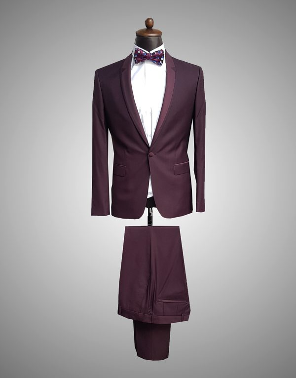 Costum Barbatesc SlimFit Bordo Ceremonie 1200 Lei