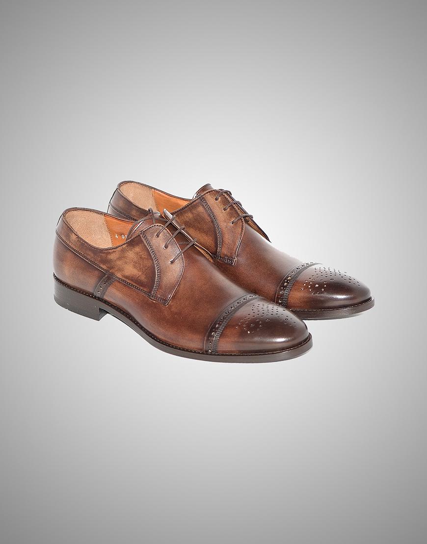 Pantofi Barbati Oxford Maro Piele Naturala  Lei