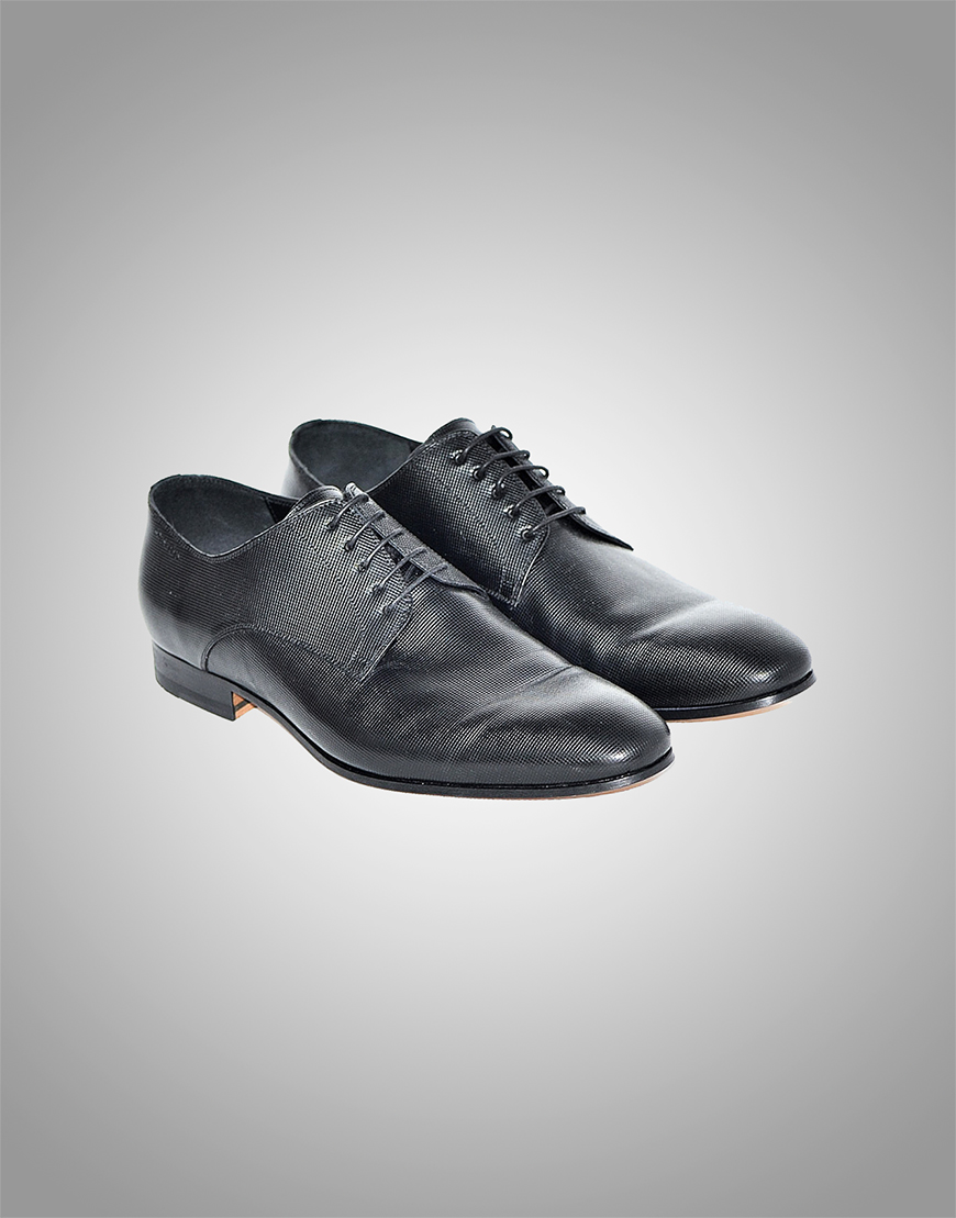 Pantofi Barbati Texturati Negru Piele Naturala 869 Lei