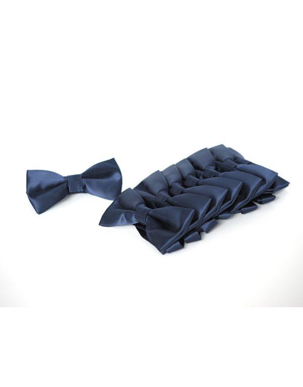 Papion Barbati Bleu Mire Microfibra Elegant Ceremonie 80 Lei