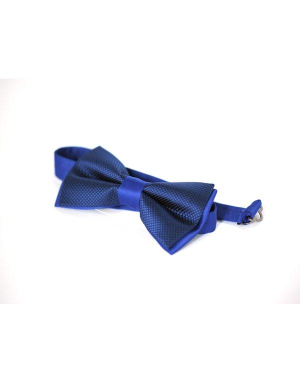 Papion Barbati Albastru Ginere Microfibra Elegant Texturat 80 Lei