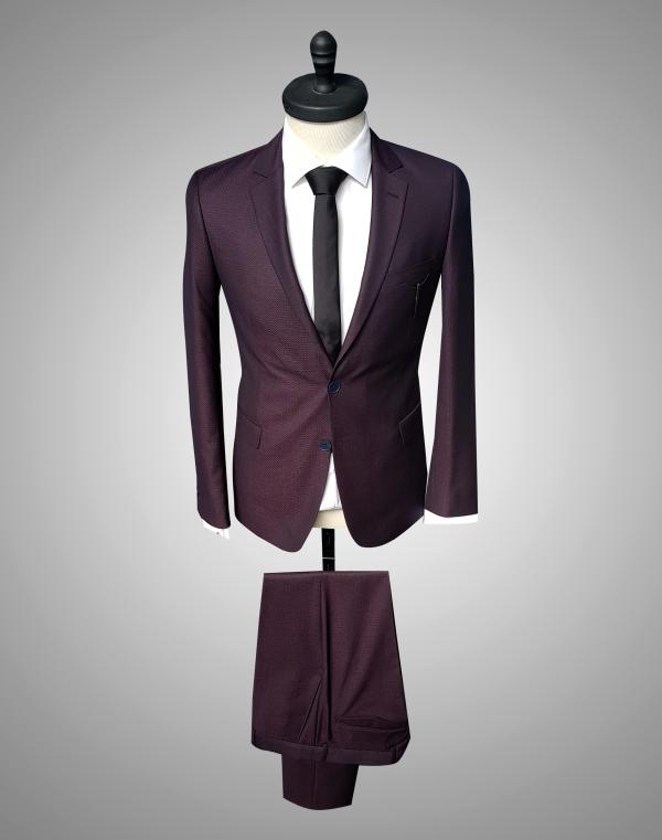 Costum Barbatesc Bordo Business Lana 950 Lei