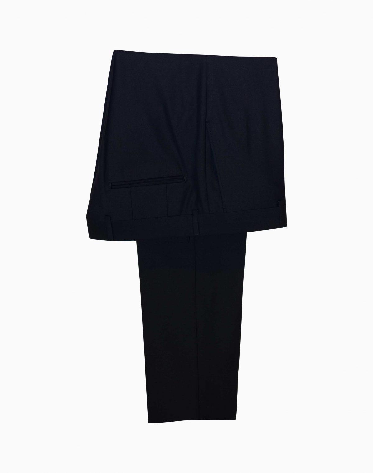 Costum Barbati Slim Fit Negru Mire Lana  Lei
