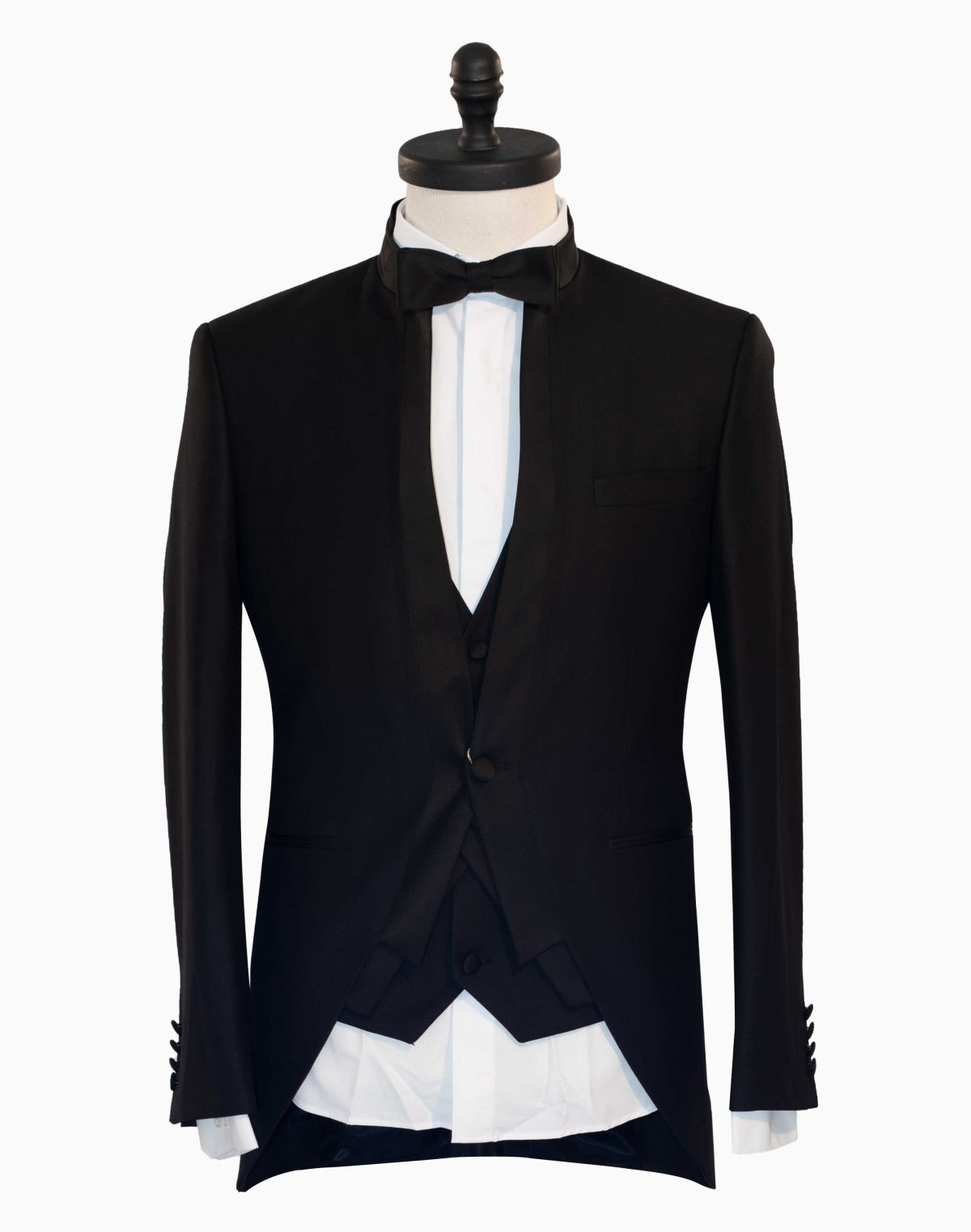 Costum Barbatesc Slim Fit Negru Tunica cu Imprimeu  Lei